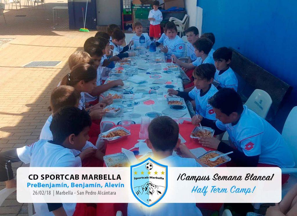 CD-Sportcab-Marbella---Campus-Semana-Blanca'18---Comiendo
